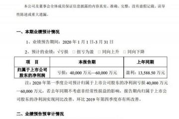 苏宁易购2020年一季度估计亏本4~6亿元