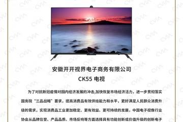 """创新颠覆!KKTV CK55会议电视获""""2020年度创新产品奖"""""""